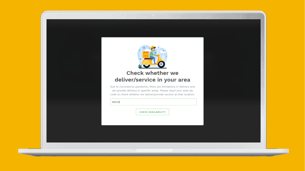 Shipping zip code serviceability validator for Shopify